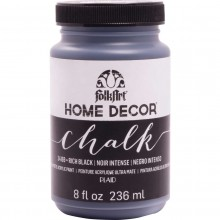 FolkArt Home Decor Chalk Acrylic Paint, 8oz Rich Black
