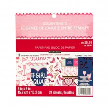 "Valentines Day Girl Rule Premium 6""x6"" Paper Pad By Recollections™"