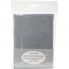 "Cards With Envelopes 5""X7"" 8/Pkg Metallic Silver Dovecraft"
