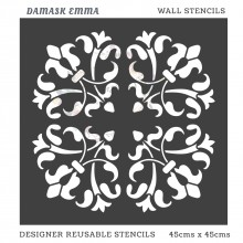 Damask Emma Home Decor Designer Reusable Stencil 45cmsx45cms