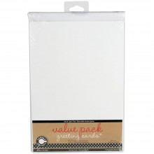 "Value Pack Greeting Cards White W/Envelopes 5""X7"" 50/Pkg By Canvas Corp"