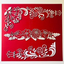 Floral Vines Borders Chippies By Get Inspired - 20cms x 22cms