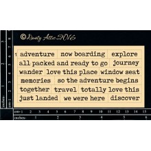 "Wordplay Adventure 6""x3"" Chipboards"