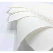 White Flower Making Silk foamiran Pack Of 5  50x50cms Sheets