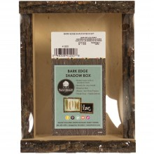 "Basswood Bark Edge Shadow Box 6.5""X8.25""X3"""