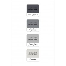 InkPads Rock Collection Mini Ink Cube Pack of 4 Set