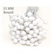 Round Styrofoam Buds 15mm Pack of 50