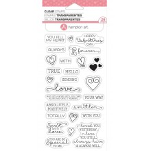 "Hampton Art Clear Stamps Set 4""X8"" - Love Words"