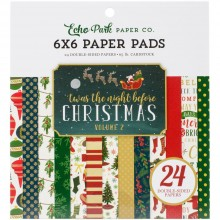 "Double-Sided Paper Pad 6""X6"" 24/Pkg Twas The Night Before Christmas Echo Park Vol 2"