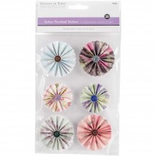 Pinwheel Stickers 3D Button Dainty MultiCraft Handmade