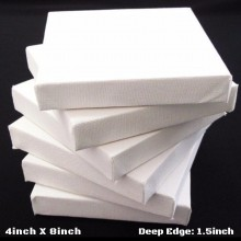 "4""x8"" Deep Edge All Media Cotton Stretched Canvas 1-1/2"" Deep"