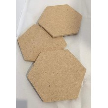 DIY Hexagon Coasters Set of 8 for DIY Activities MDF 4inch Diameter (Thickness 3.5mm)