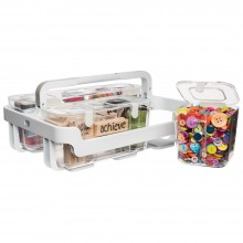 Deflecto White Caddy Organizer W/Small, Medium & Large Compartments
