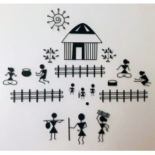 Warli House Clear Stamp Set 7inchx 7inch Pk/20 Stamps