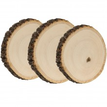 Basswood Country Round Coaster 3/Pkg