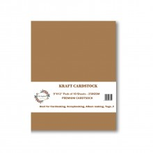 "Premium Kraft Cardstock 9""x12""- 250gsm By Get Inspired"