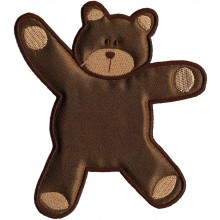 Iron-On Applique Brown Bear Wrights Especially Baby