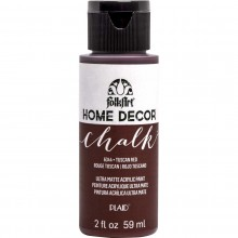 FolkArt Home Decor Chalk Acrylic Paint, 2oz Tuscan Red