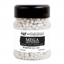 Mega White Art Stones Finnabair Art Ingredients 7.78 Ounces