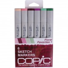 Copic Sketch Markers 6/Pkg - Floral Favorites 1