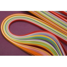 Premium Quality Quilling Strips Pack of 2 with 16 Decent Colors Assorted 18inchX5mm 320 Strips