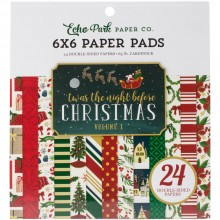 "Double-Sided Paper Pad 6""X6"" 24/Pkg Twas The Night Before Christmas Echo Park Vol 1"