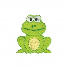 Iron-On Applique Green Frog Wrights Especially Baby