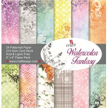 "Watercolor Fantasy Paper Pad 6""X6"" By Icraft"