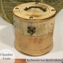 "Chamber Wooden Crate 6"" x 6"" by Decorate Your World Collection By Get Inspired"