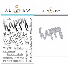 Altenew Halftone Happy Stamp & Die Bundle - 17 Pieces