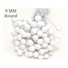 Round Styrofoam Buds 9mm Pack of 100