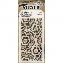 "Lace Stencil By Tim Holtz 4.125""X8.5"""