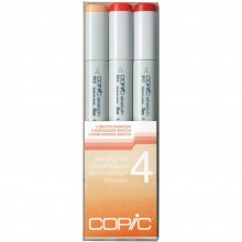 Copic Sketch Blending Trio Markers 3/Pkg Set 4: R12-S, R14-S and R17-S.