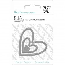 Dies Nesting Hearts Xcut Mini Decorative 3/Pkg