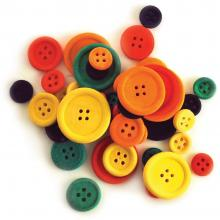 Buttons Assorted 40/Pkg Craftwood Craft