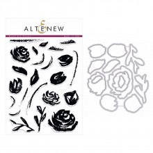 Altenew Brush Art Floral Stamp & Die Bundle - 36 Pieces