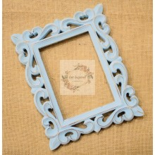 "Deco Blue Vine Carved Vintage Rectangle Frame 10""x8"""