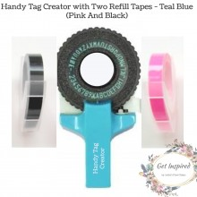 Handy Tag Creator By Get Inspired - Teal Blue with Two Refill Tapes