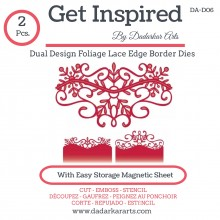 Dual Design Foliage Lace Edge Border Dies- Set of 2 Dies