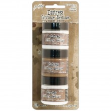 Vintage, Matte & Crazing Tim Holtz Distress Collage Mini Mediums 1oz 3/Pkg