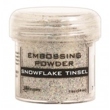 Embossing Powder Tinsel Snowflake By Ranger