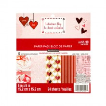 "Valentines Day Premium 6""x6"" Paper Pad By Recollections™"
