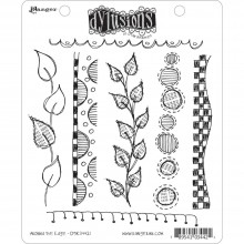 "Around The Edge Dyan Reaveley's Dylusions Cling Stamp Collections 8.5""X7"""