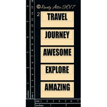 "Mini Tags #2 Travel 6""x3"" Chipboards"