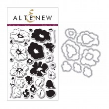 Altenew Whimsical Flowers Stamp & Die Bundle - 41 Pieces