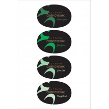 Full Size Inkpad Green Meadows Oval Crisp Dye Set of 4 By Altenew