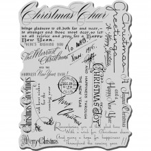 "Cling Stamp Christmas Background Stampendous 4""X6"""