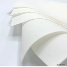 "White Thin Silk Flower Making Foam Pack Of 5 20""x20"" Sheets"