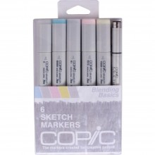 Copic Sketch Markers 5/Pkg W/Multiliner Pen Blending Basics