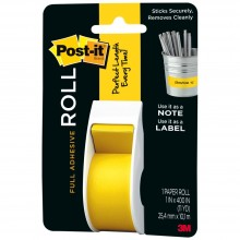 "Yellow Post-It Full Adhesive Roll 1""X400"""